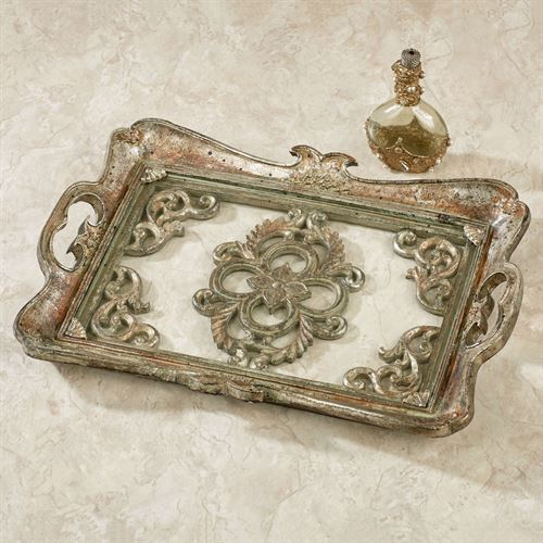 Bethney Vanity Tray Silver with Gold