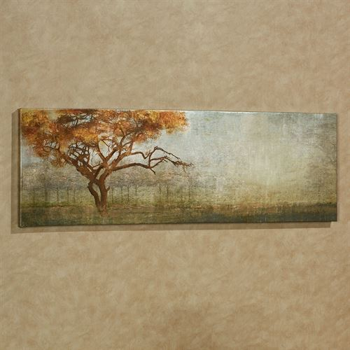 Serengeti Tree Canvas Wall Art Multi Earth