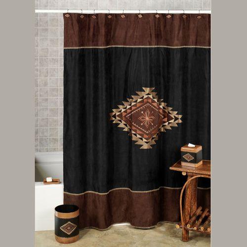 Colton Shower Curtain Multi Warm 72 x 72
