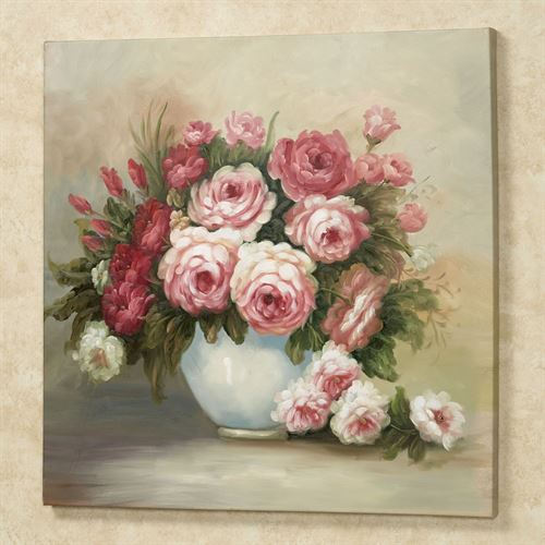 Floral Bouquet Canvas Wall Art Pink