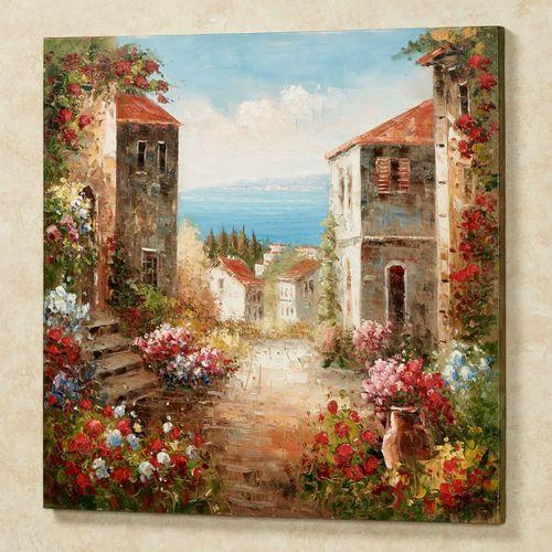 Villa Toscana Canvas Wall Art Multi Warm