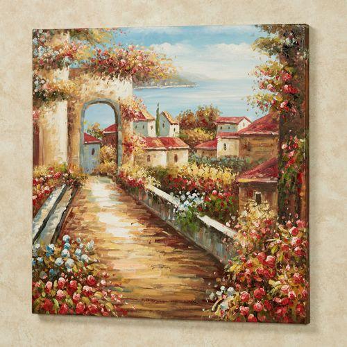 Afternoon Stroll Canvas Wall Art Multi Warm
