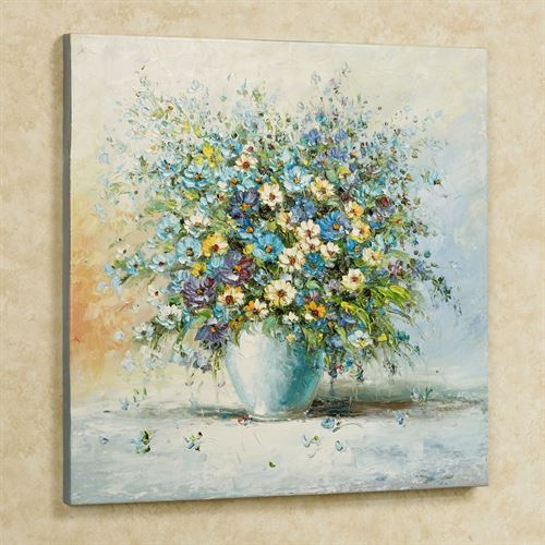 Floral Rhapsody Canvas Wall Art Multi Cool