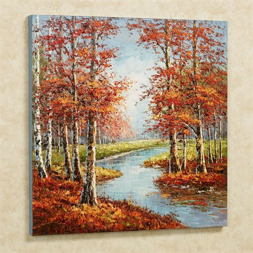 Natures Retreat Canvas Wall Art Vermillion