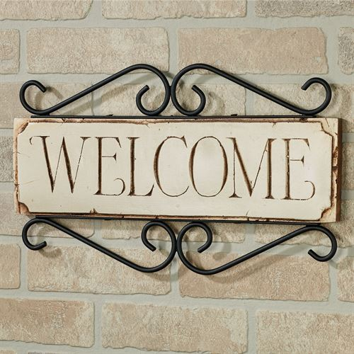 Welcome Wall Plaque - English English