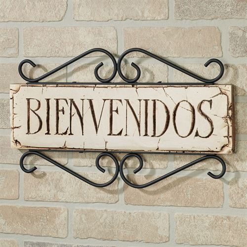 Welcome Wall Plaque - Spanish Spanish