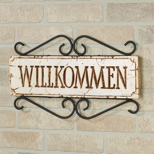 Welcome Wall Plaque - German German