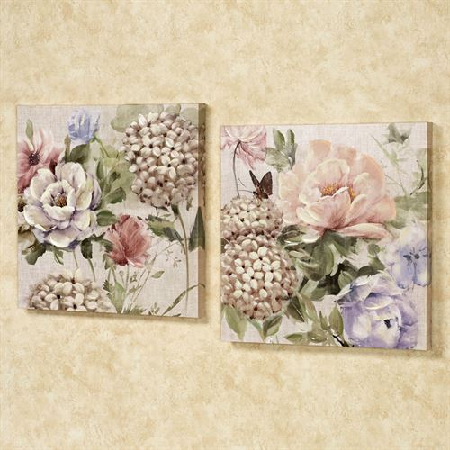 Charlottes Garden Canvas Art Multi Pastel Set of Two