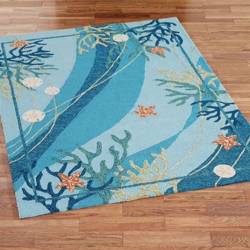 Underwater Coral Starfish Indoor Outdoor Rugs