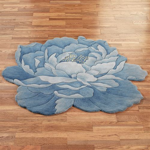 Blue Flower Shaped Rugs Flowers Healthy