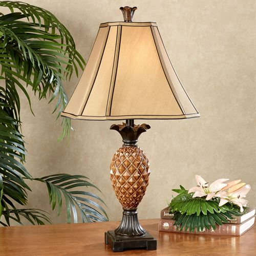 Haina tropical pineapple table lamp with cfl bulb haina pineapple table lamp amber each with cfl bulb aloadofball Choice Image