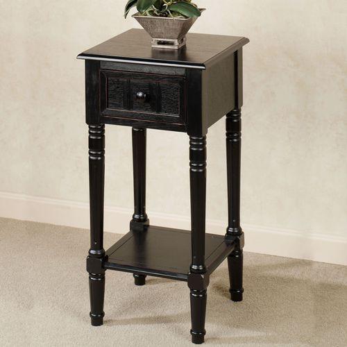 Crookston Square Side Table Black
