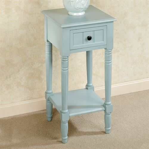 Crookston Square Side Table Pale Blue