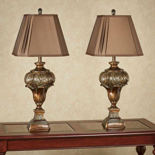 Rivera Table Lamp Dark Amber