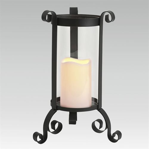 Dahrla Scroll LED Candleholder Black