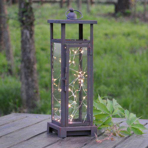 Twinkling Twilight LED Lantern Brown