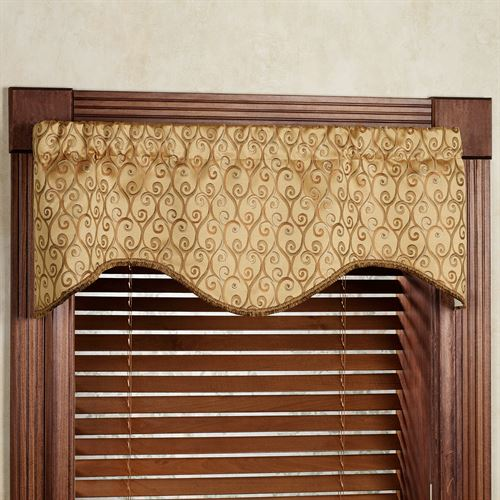 Twine M Shaped Scalloped Valance 51 x 17