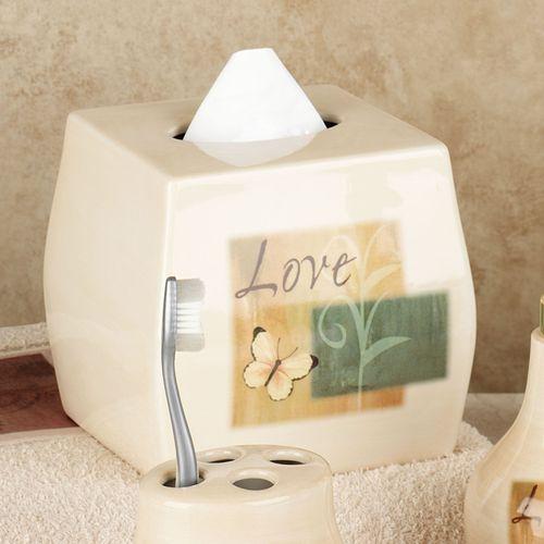 Tranquility Inspirational Bath Accessories Lotion Soap Dispenser Beige