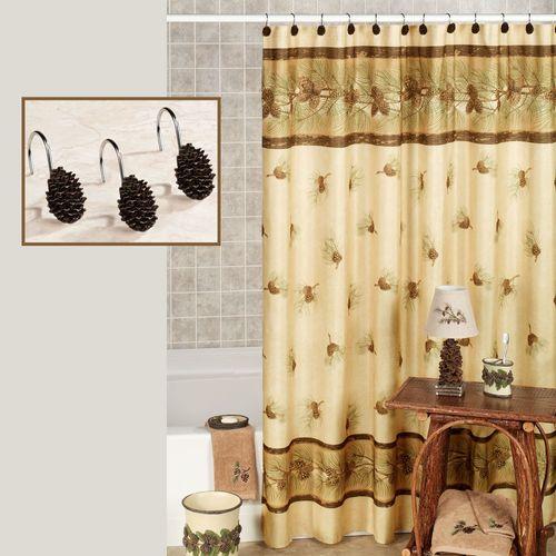Pinehaven Shower Curtain Beige 70 X