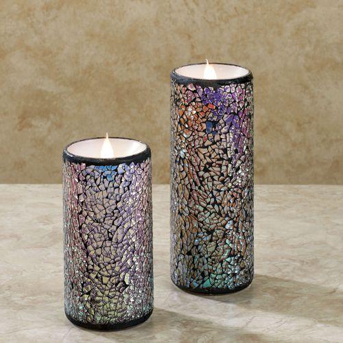 Mystic Mosaic LED Candle Multi Metallic