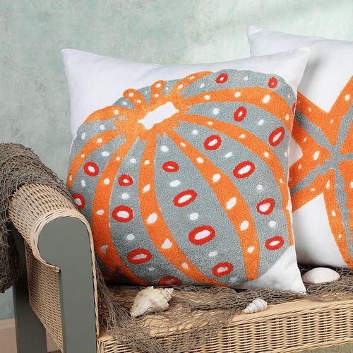 Fiesta Key Sea Urchin Pillow White 18 Square