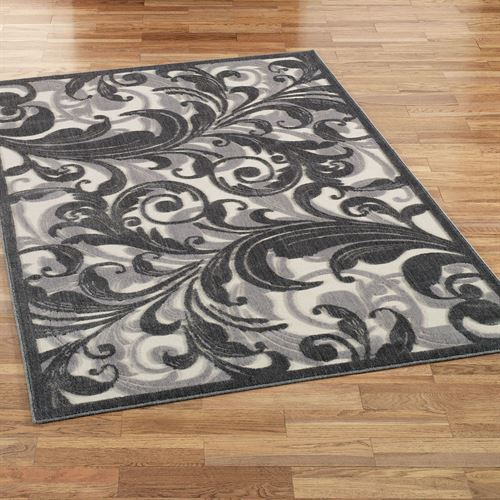 Tantalizing Graphic Ivory Rectangle Rug