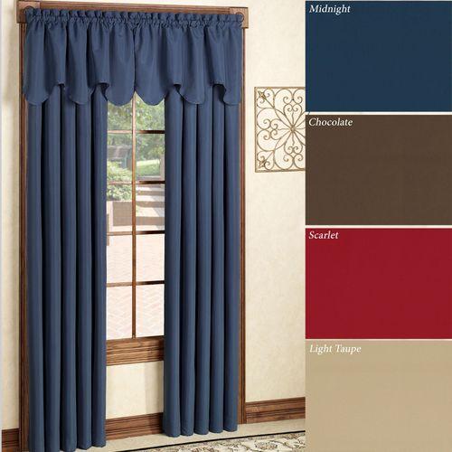 Peach Skin Tailored Curtain Panel