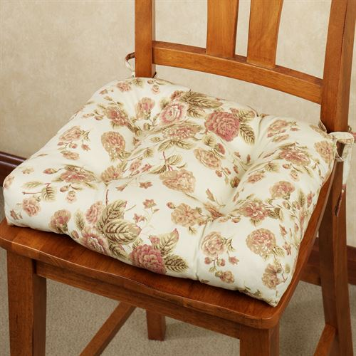 Cottage Rose Chair Cushion Light Cream 17 X 15