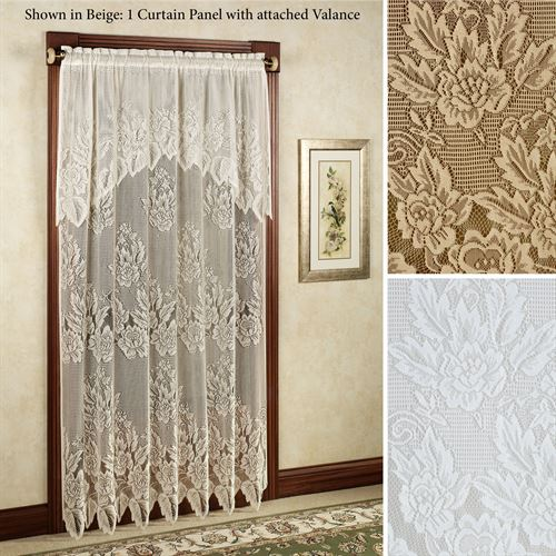 Hallie Magnolia Lace Curtain Panel
