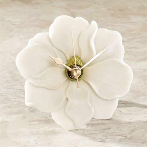 Magnolia Table Clock Ivory