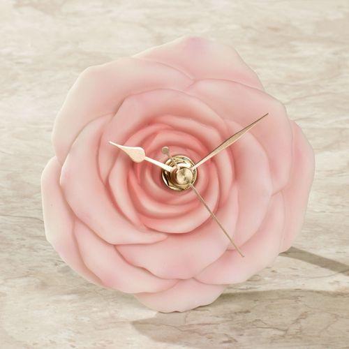 Rose Table Clock Pink