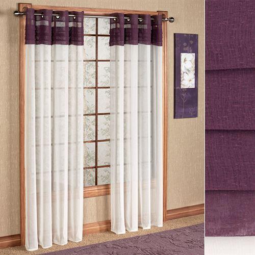 Geneva Semi Sheer Grommet Curtain Panel