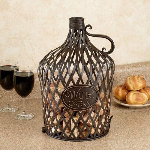 Vintage Wine Jug Cork Cage(R) Brown