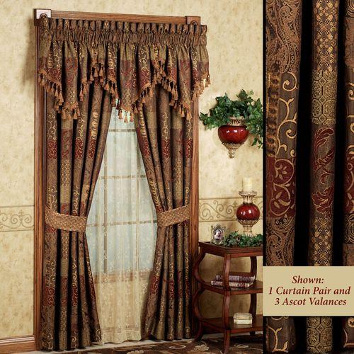 Galleria Tailored Curtain Pair Spice 82 x 84