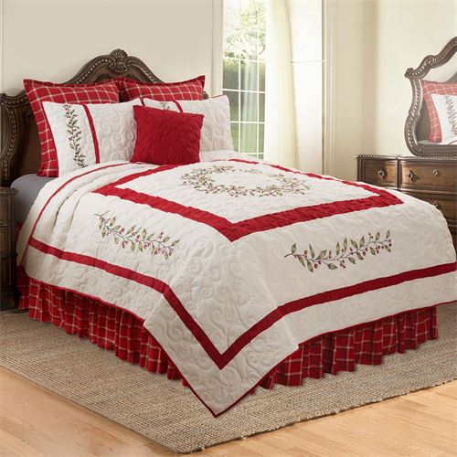 Berry Garland Mini Quilt Set Red