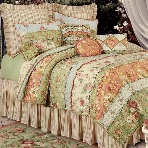 Garden Dream All Cotton Quilt Cream