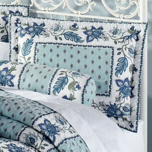 Chalet Bleu Quilted Sham Light Blue