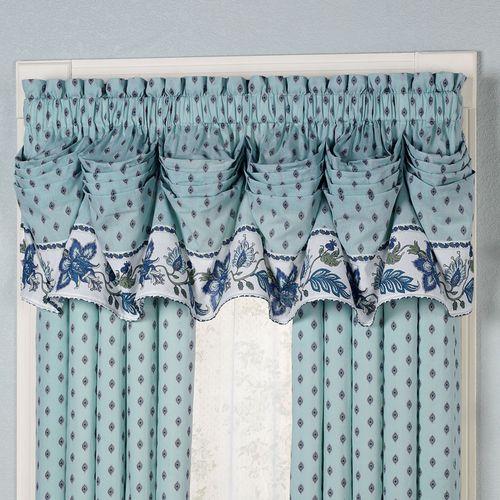 Chalet Bleu Tuck Valance Light Blue 90 x 20