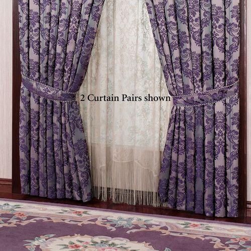 Renaissance Tailored Curtains Pair Grape 84 x 84