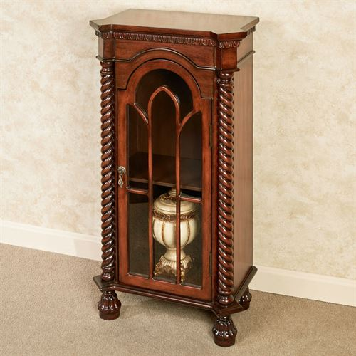 Cathedral Curio Cabinet Natural Cherry