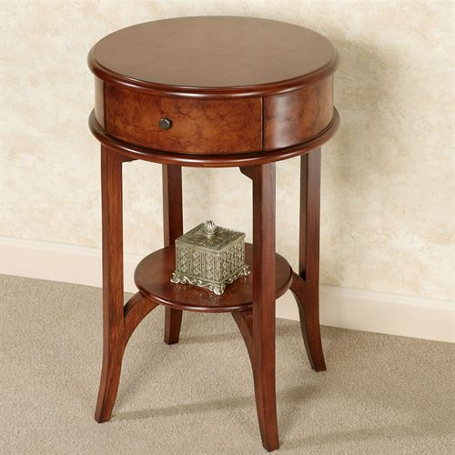 Ciliegia Round Accent Table Natural Cherry