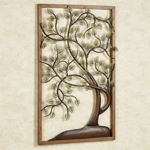 Timeless Tree Metal Wall Art Panel Multi Earth