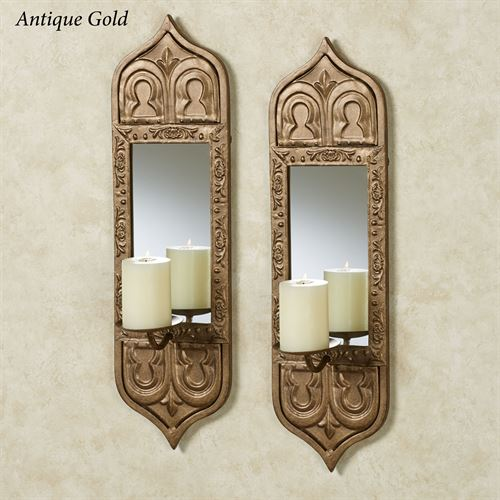 Anisah Mirrored Wall Sconce Pair