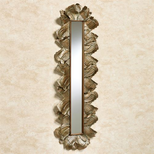 Delicate Blossom Wall Mirror Panel Champagne Gold