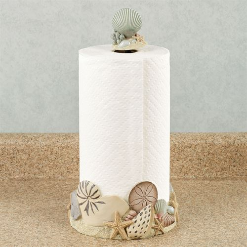 At the Beach Paper Towel Holder Natural