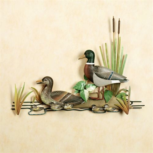 Mallard Family Wall Sculpture