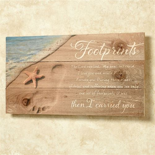 Footprints Wall Plaque Multi Cool