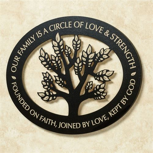 Our Family Wall Plaque Black