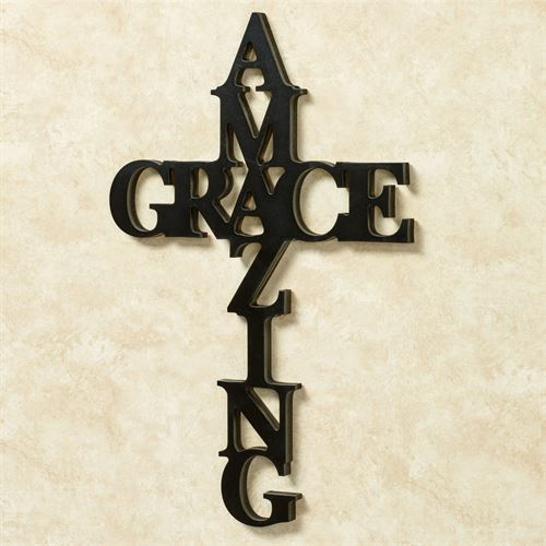 Amazing Grace Word Wall Art Black & Amazing Grace Word Cross Wall Art