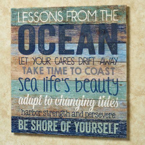 Oceans Wisdom Wall Plaque Multi Cool